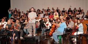 in rehearsal for Carmina Burana in Jordan, June 2015