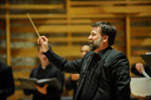 conducting Eriks Esenvalds' Stars at Earlham, December 2015