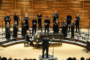 conducting the Earlham Madrigal Singers, December 2015