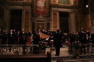 conducting Handel's Messiah at St. Matthew's cathedral with Grammy Award-winning tenor John Aler, September 2003