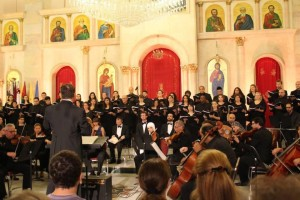 performing Handel's Messiah in Amman, Jordan, June 2014