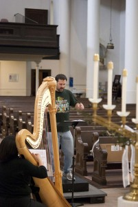 a moment in the Requiem rehearsal at St. Mary's in Richmond, April 2012